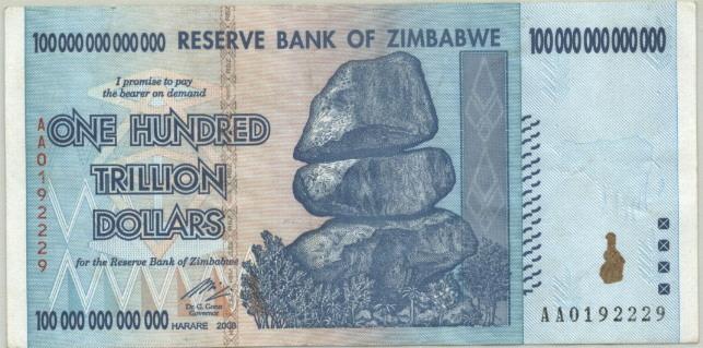 ZAMBIBWE AA $100 QUADRILLION PARODY SPOOF FANTASY OF ZIMBABWE $100 TRILLION!